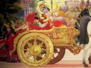 Krishna kidnaps Rukmini 2