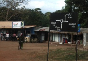 aug5-11-lanka signboard in sinhalaPuthukudiirrupu - oddusudan road indicating