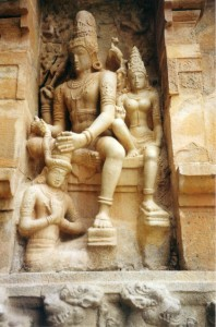 Siva crowning Rajendra