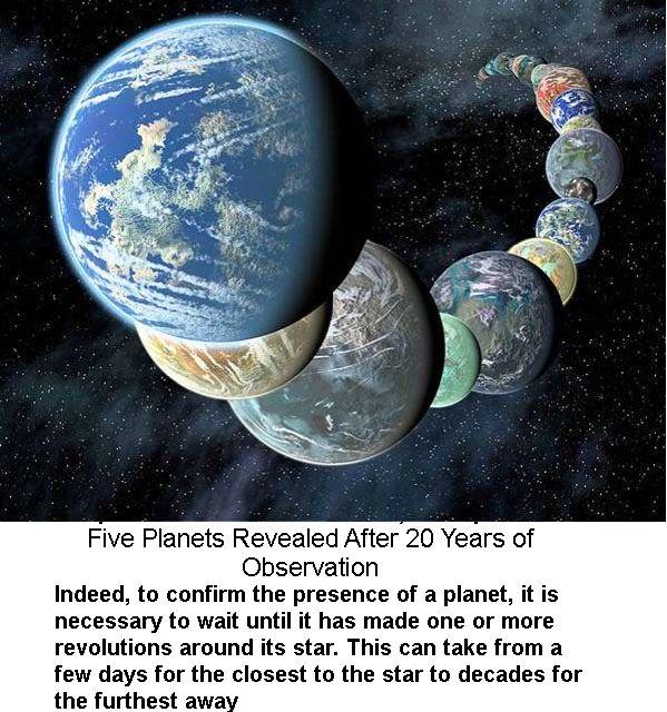 20 ஆண்டுகள் வானியல் வல்லுநர் விண்ணோக்கி ஐந்து புறக்கோள்கள் கண்டுபிடிப்பு